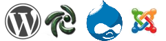 Wordpress, Zen Cart, Drupal, Joomla