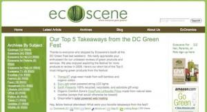 GraymatterHost Named in Top 5 Takeaways By EcoScene Magazine